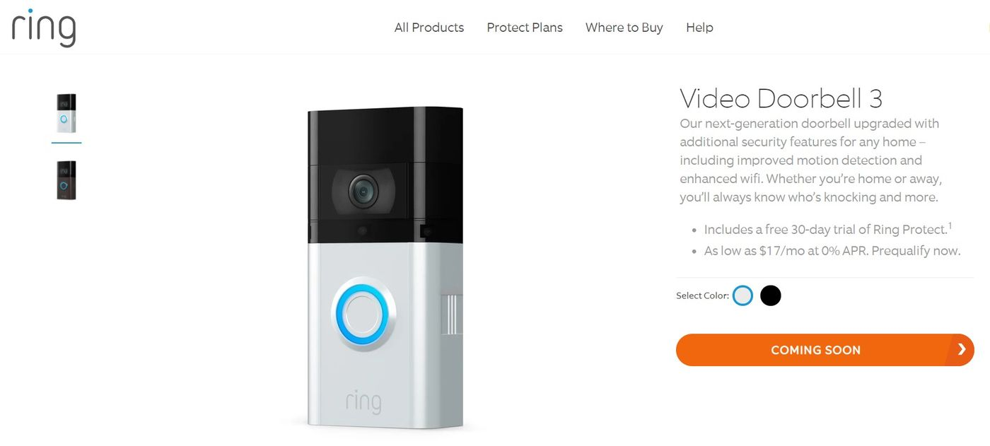 Amazon пусна нови Ring Video Doorbell 3 домашни звънци